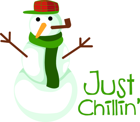 Frosty the Snowman comes once a year, but this one will last all year round. Çizim