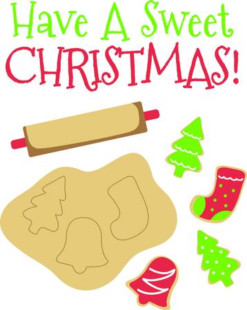 Weihnachten ist eine wunderbare Familienfest mit selbst gebackenen Plätzchen. Standard-Bild - 43780713
