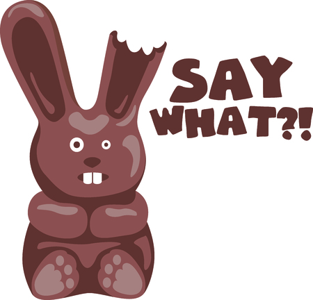 leveret: Get chocolate rabbit image for your next Easter design.