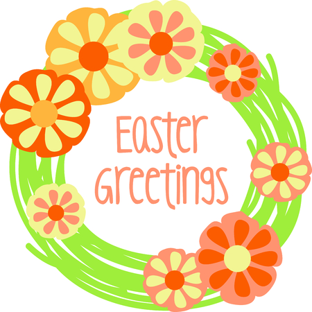 Get this floral wreath image for your next Easter design.