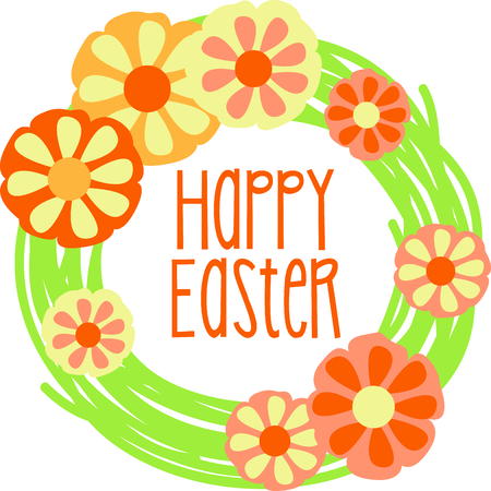 floret: Get this floral wreath image for your next Easter design.