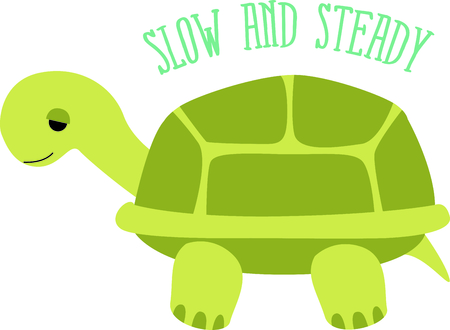 Get this cute turtle image for your next design. Ilustrace