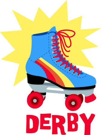 rollerskate: Roller skating is so much fun.  Use this image in your next design.