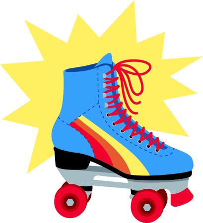 Rolschaatsen is zo leuk. Gebruik deze afbeelding in uw volgende ontwerp.