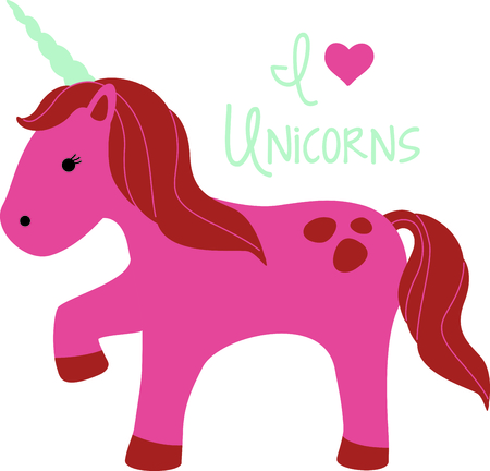 Get this cute unicorn image for your next design. Ilustrace