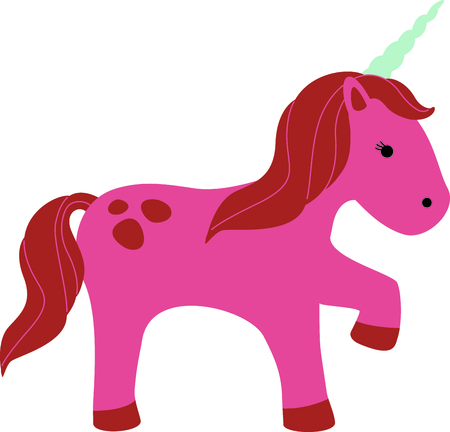 legendary: Get this cute unicorn image for your next design. Illustration