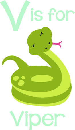 Get this cute snake image for your next design. Illustration