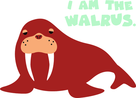 Get this cute walrus image for your next design.