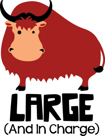 Get this cute yak image for your next design.