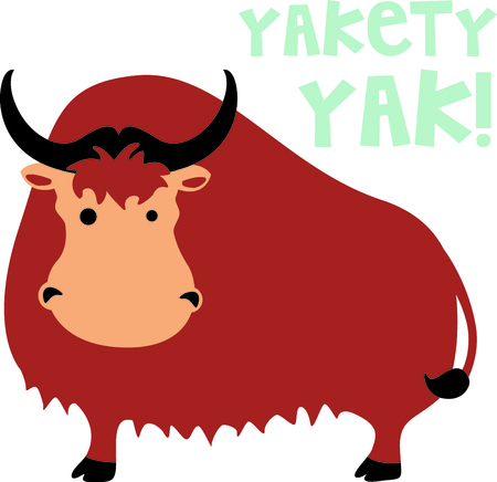 yak: Get this cute yak image for your next design.