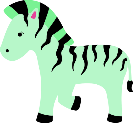 Get this cute zebra image for your next design.