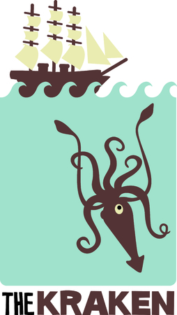 This squid is perfect for your classroom.  The students will love it!