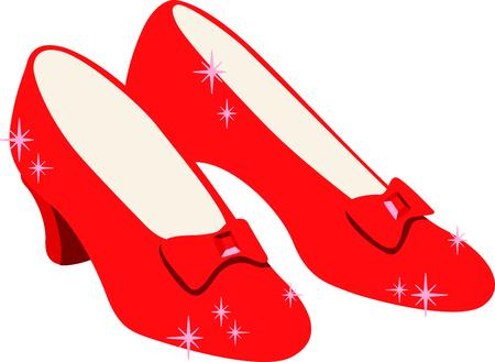 oz: Get these ruby slippers image for your next design. Illustration