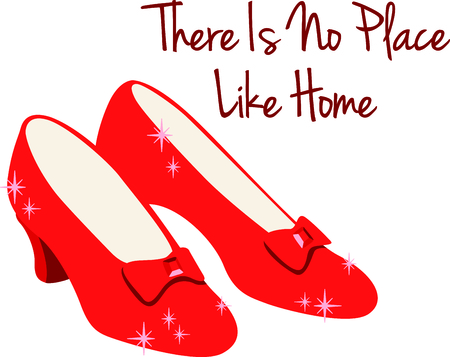 Get these ruby slippers image for your next design. Stock Illustratie