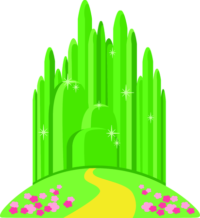 Get this emerald city image for your next design. Ilustracja