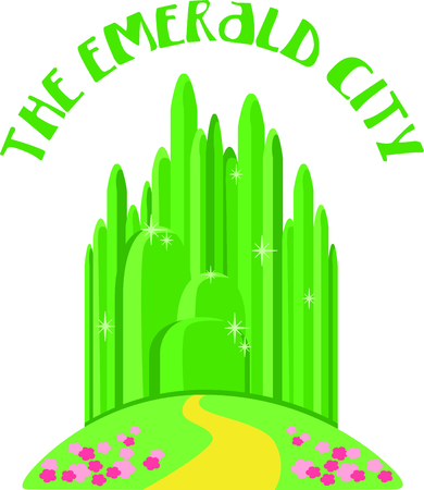 Get this emerald city image for your next design. Ilustração