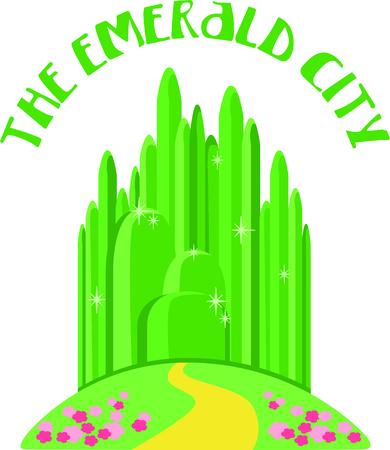 Krijg dit beeld Emerald City voor uw volgende ontwerp. Stock Illustratie