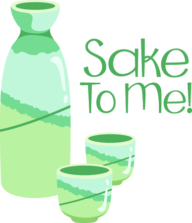 sake: This Japanese sake is perfect for your next design.