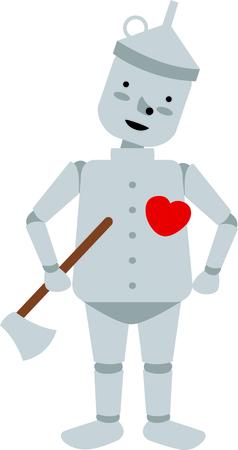 Get this tin man image for your next design.