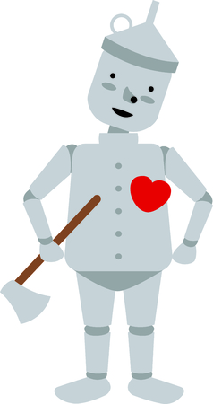 Get this tin man image for your next design.