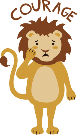 Get this lion image for your next design. Ilustracja