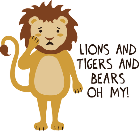 cowardly: Get this lion image for your next design. Illustration