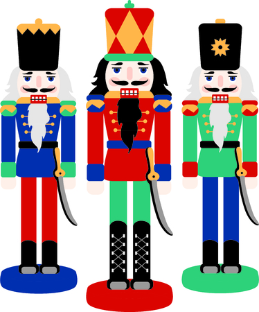 christmas toy: Get this nutcracker image for your next design.