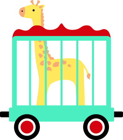 critter: Get this circus giraffe image for your next design.