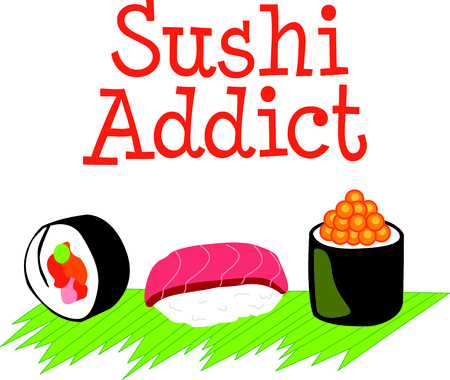 nori: Im a sushi addict.  This is how I roll.  Wear this next time you go out to eat.  Everyone will love it! Illustration