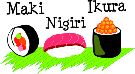 Im a sushi addict.  This is how I roll.  Wear this next time you go out to eat.  Everyone will love it!  イラスト・ベクター素材
