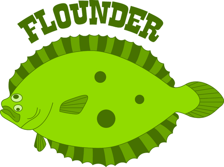 flounder: Vacationing at the bay is lots of fun.  Take this fish to remember it always.