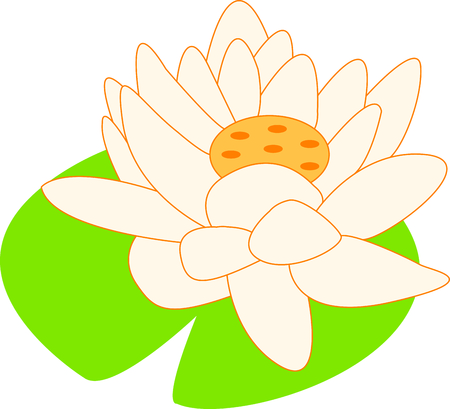 lily pad: The lotus is a sacred Buddhist symbol.