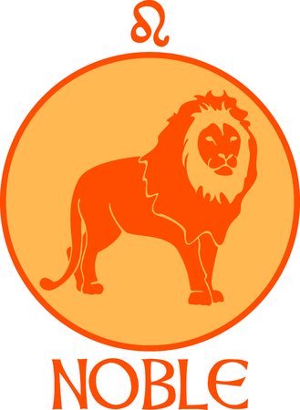 asterism: Display your astrological sign with this beautiful lion for the sign Leo. Illustration