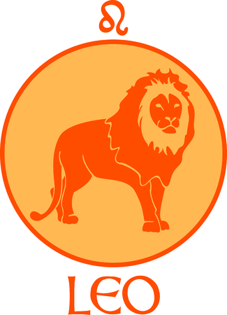 Display your astrological sign with this beautiful lion for the sign Leo. Illusztráció