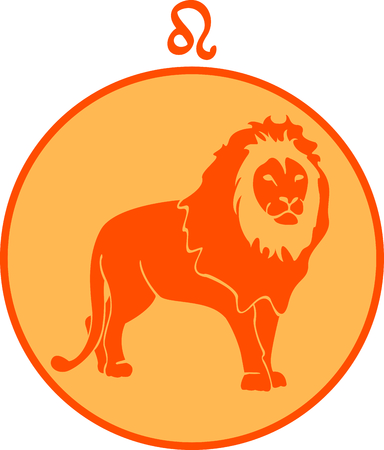 Display your astrological sign with this beautiful lion for the sign Leo. 向量圖像