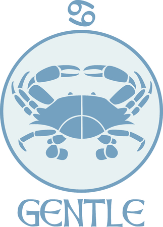 astrological: Display your astrological sign with this beautiful crab for the sign Cancer.