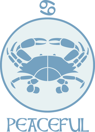 asterism: Display your astrological sign with this beautiful crab for the sign Cancer.