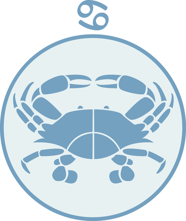 Display your astrological sign with this beautiful crab for the sign Cancer. Reklamní fotografie - 43782843