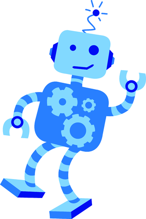 This robot is a perfect image to add to a design for a child.