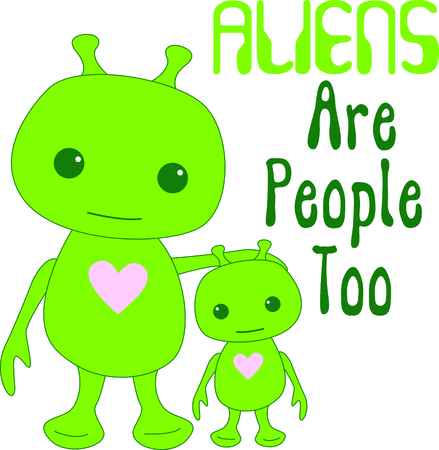 extra terrestrial: This alien is a perfect image to add to a design for a child.
