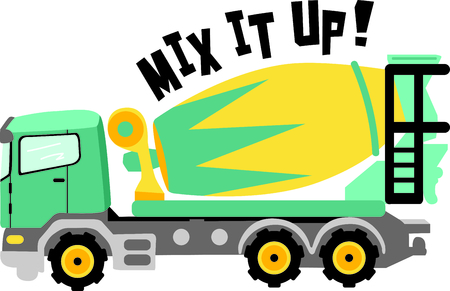This concrete truck image is the perfect image for your next design.  Perfect for the construction crew.