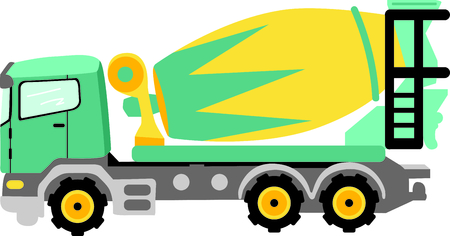construction crew: This concrete truck image is the perfect image for your next design.  Perfect for the construction crew.