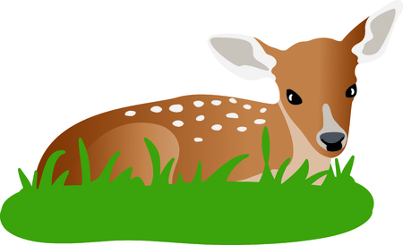 This sweet fawn is a perfect design for a nursery.
