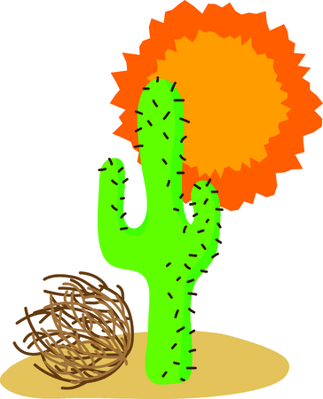 Traveling in the desert Southwest is a great vacation to learn about the country.  Include this image with your design. Иллюстрация