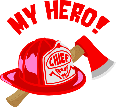 pry: Firefighters work hard every day to risk their lives for others.  Show them how much you appreciate them. Illustration