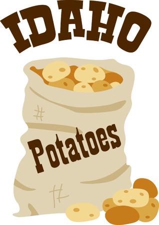 Aardappelen zijn een geweldige aanvulling op een zelfgemaakte maaltijd. Voeg dit ontwerp aan servetten voor uw cafe! Stockfoto - 43783158
