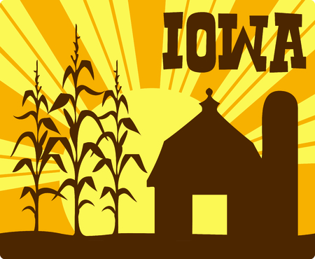corn stalk: Send this cute corn farm image to your special farmer.  They will love it!