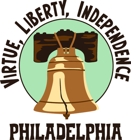 This Liberty Bell is the perfect design for Independence day.