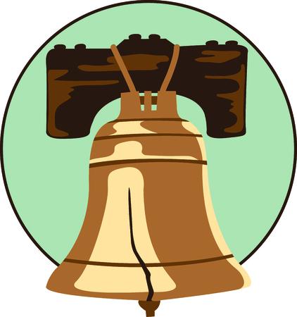 Das Liberty Bell ist der perfekte Entwurf für Unabhängigkeitstag. Standard-Bild - 43783373