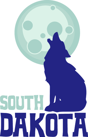 coyote: The coyote howling at the moon is the perfect image for a design for a boy.  They will love it!